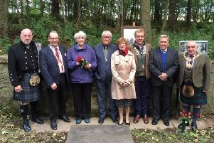Left to right - Dave Ramsay, depute Provost of Aberedeenshire Ron McKail, Joan Christie, John Knox, president Arbroath  Burns Club, Sonia Proctor, Hamish Murray, president Montrose Burns Club, Eck Whitton, Provost of Angus, Ronnie Proctor