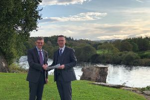 Maryculter House managing director Peter Walker, right, with Portlethen Academy head teacher Neil Morrison