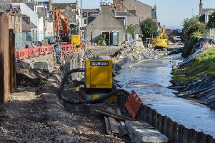 The council says the halt to flood prevention work is temporary. Picture: Aberdeenshire Council
