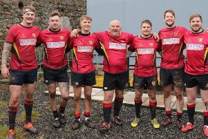 Mackie FP v Banff family ties: Ross Hartley, Greg Hartley, Kyle Mair, Colin Mair, Mikey Mair, Ross Gray and Calum Gray