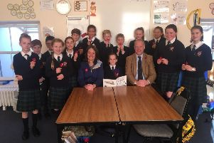 Neil McLennan working with pupils at Lathallan School