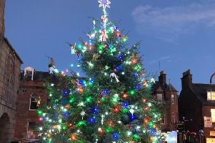 The Christmas tree and festive street lights will be switched on at 5pm