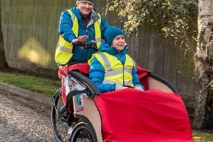 Cycling Without Age -Stonehaven was awarded �8000 to buy a second trishaw