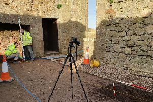 Work under way to prevent flooding in the Dunnottar Castle dining room area