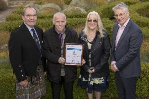 Keep Gorebridge Beautiful was presented with Silver in the Medium Town category