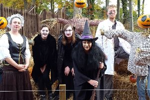 Staff at Dalkeith Country Park get in the Halloween spirit