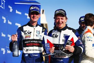 Penicuik driver Colin Noble (left) with Ecurie Ecosse team-mate Tony Wells