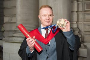 David Easton Graduated with a Batchelor of Nursing with Distinctionat Edinburgh Napier University awards day having studied printing there many years before
