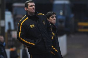 Robbie Horn has been named assistant manager to Ian Little at Berwick Rangers and was in the dug out for his first match against Stranraer (archive)