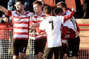 Pic Lisa Ferguson 20/01/2018''Bonnyrigg Rose v Newtongrange Star''Keith Lough scores