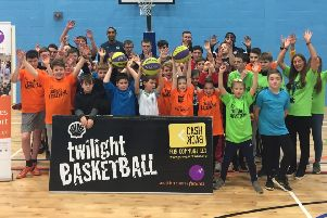 Launch night of Twilight Basketball at Newbattle Campus