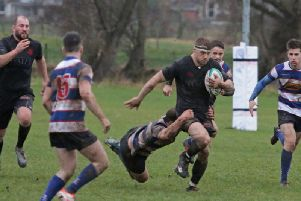 Biggars Chris Mulligan was often too fast and evasive for Howe and here he is pictured breaking through on his way to scoring (Pic by Nigel Pacey)