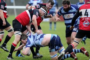 Pic by Alan Murray; 19/01/2019; Falkirk RFC v Lasswade RFC; Camelon; Horne Park, Sunnyside; Falkirk District; Scotland;