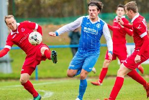 George Hunter in action for Newtongrange Star (Archive pic)