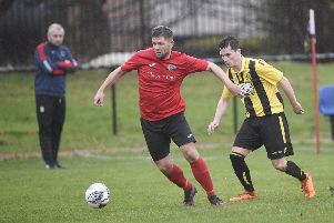 Neil Janczyk in action for Dalkeith Thistle (archive)