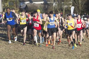 The start of the Masters CC Champs 2019 at Hawick (picture by Bill McBurnie)
