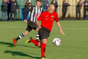 Paul Tansey for Dalkeith against Dunipace