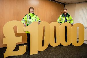Yvonne Mitchell and Mark Halliday from Penicuik Community First Responders - who were awarded �500 last year in the Cala Homes Midlothian Bursary scheme.