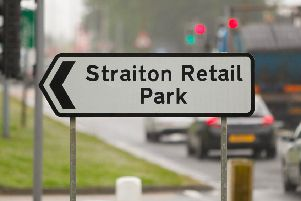 A strong smell of cannabis was found to be emanating from a vehicle at Straiton Retail Park.