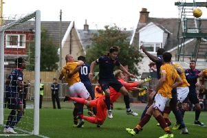 Action from Hearts' 1-0 win at Fir Park on September 15, when the Jambos' stunning early season form had seen them topping the Scottish Premiership table (Pic by Ian McFadyen)