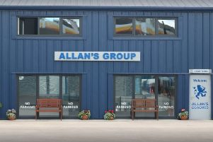 The Allan's Group garage at Newtonloan.