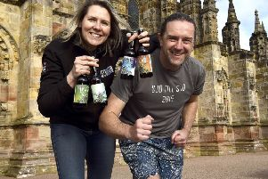 Pic Lisa Ferguson 18/02/2019''Jo Stewart Co-Owner Stewart Brewing and Paul McGreal MD of Durty Events'Stewart Brewing have launched a charity trail  run in aid of Bright Sparks', the run is from the chapel to their Loanhead HQ