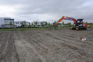 Construction work at Shawfair which will provide 4,000 new homes