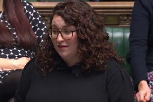 Midlothian MP Danielle Rowley speaking in the House of Commons.
