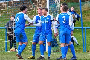 Newtongrange Star players celebrate (archive)