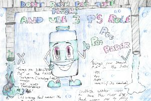 Ruby Maxwell's colourful artwork for the Scottish Water Midlothian campaign.