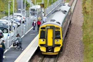 Passengers board an Edinburgh-bound train at Newtongrange station in Midlothian in 2016. Picture: Ian Rutherforrd