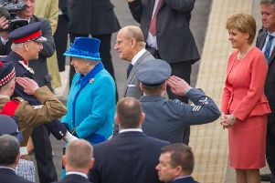 Large crowds gathered at Newtongrange as the Queen opened the Borders Railway in September 2015. credit steven scott taylor / J P License