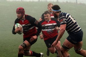 Lasswade Ally  Lamond en route to score agaisnt Glasgow Accies (picture: Bob Johnstone)