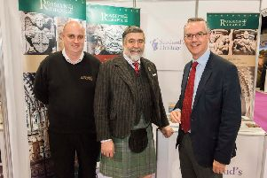 Pictured at this year's expo in Glasgow are Simon Beattie (left) and Ian Gardner from Rosslyn Chapel with Lord Thurso, VisitScotland chairman.