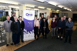 Pic Lisa Ferguson. Community group One Dalkeith has taken on the lease of the former Pick 'N' Save/Kitchen'Bathroom Showroom in the centre of the town with the idea of creating a much needed community hub.