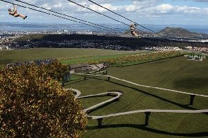 Zipline proposed for Hillend Ski Centre by Midlothian Council. This is just a CGI illustration of how it might look.