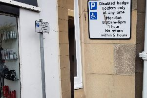 Street parking signs on Dalkeith High Street allowing drivers to park for one hour when it should have only have been 30 minutes.