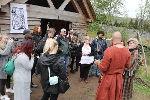 Clanranald Trust founder Charlie Allan giving a tour of Duncarron