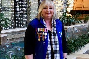 Pathhead woman Pamela Hunter visited Moscow for the Immortal Regiment march.