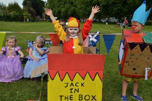Quinn Hawthorne as Jack in the box at last year's fancy dress parade.