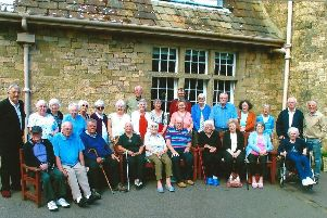 Stock photo os residents of Mid and East Lothian  at Whatton Lodge Guillane (the Lothian Mineworkers Convalescent Home)