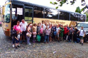 Grandparents Parenting Again & Kinship Carers (Midlothian) members on return from their Summer Trip to Almondvalley Heritage Centre last July.