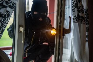 Stock shot of burglar.
