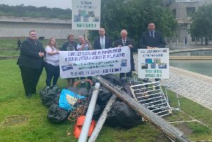 The Scottish Conservatives  launched a new campaign outside the Scottish Parliament to tackle fly tipping.