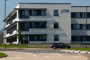 The SQA building at Shawfair Roundabout near Danderhall