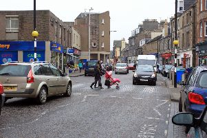 A busy Dalkeith High Street.