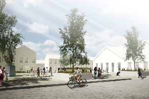 The picture shows an artist's impression of what a village square in Newtongrange could look like potentially.
