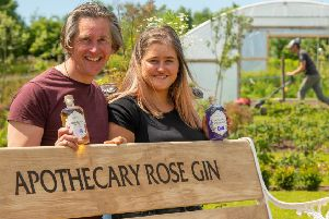 Hamish Martin and his daughter Francesca Martin at  The Secret Herb Garden.