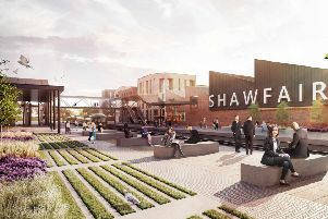 An artist's impression of Shawfair town centre.