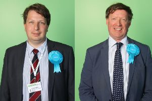 Conservative councillors Andrew Hardie (left) and Peter Smail, who have put forward the motion.